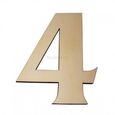 Domové číslo popisné DREVO č.4