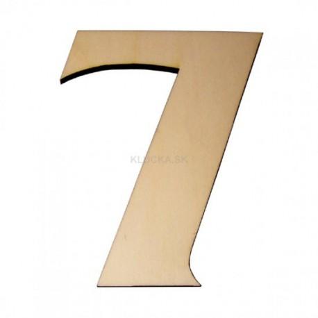Domové číslo popisné DREVO č.7