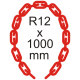Bezpečnostná reťaz Ø 12mm x 1000mm