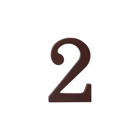 """domove číslo 175mm hnedé """"2"""""""