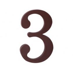 """domove číslo 175mm hnedé """"3"""""""