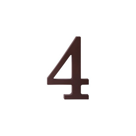 """domove číslo 175mm hnedé """"4"""""""