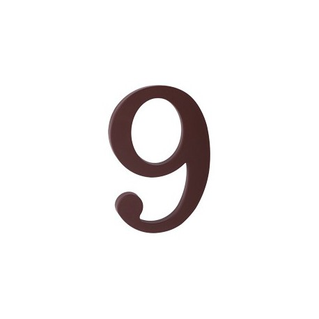 """domove číslo 175mm hnedé """"9"""""""