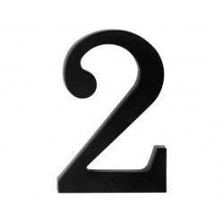 "domove číslo 175mm čierne ""2"""