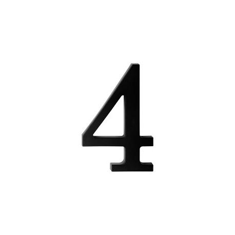 "domove číslo 175mm čierne ""4"""