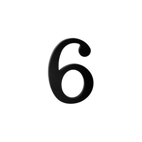 "domove číslo 175mm čierne ""6"""