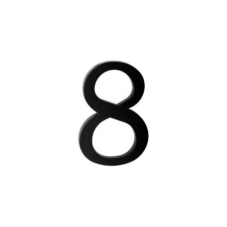 "domove číslo 175mm čierne ""8"""