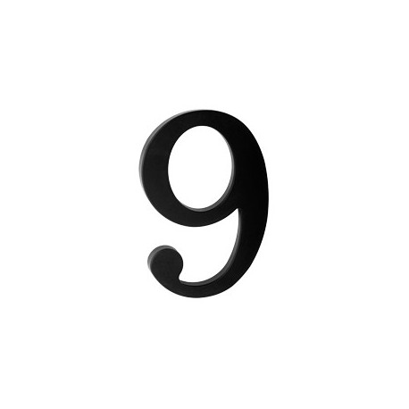 "domove číslo 175mm čierne ""9"""