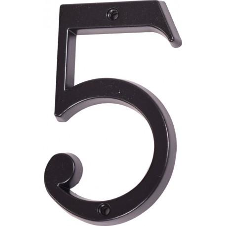 "Číslo "" 5 "" čierne 120mm"