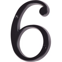 "Číslo "" 6 "" čierne 120mm"