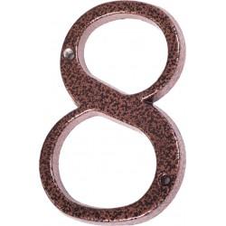 "Číslo "" 8 "" medený antik 120mm"