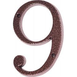 "Číslo "" 9 "" medený antik 120mm"