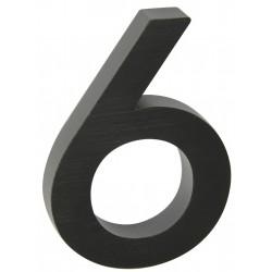 "RN.100LV.6.AL.C.3D číslo "" 6 ""  čierne"