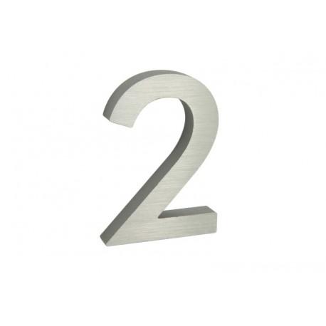 """Číslo """"2"""" 3D 100mm Al"""