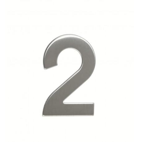 """Číslica """"2"""" 95mm nerez"""
