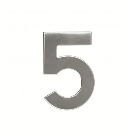 """Číslica """"5"""" 95mm nerez"""