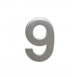 """RN.95L.9.N. číslica """"9"""" 95mm nerez"""