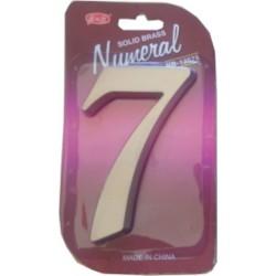 "číslo 125mm nikel satén ""7"""
