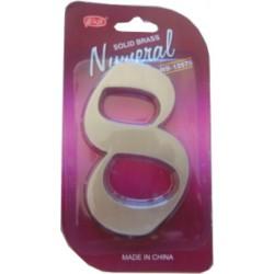 "číslo 125mm nikel satén ""8"""