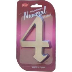 "číslo 125mm nikel satén ""4"""