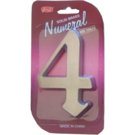 "číslo 125mm nikl satén ""4"""