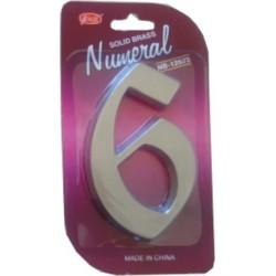 "číslo 125mm nikel satén ""6"""