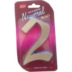"číslo 125mm nikel satén ""2"""