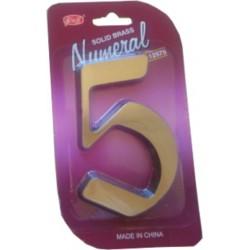 """číslo 125mm bronz """"5"""""""