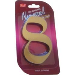"""číslo 125mm bronz """"8"""""""