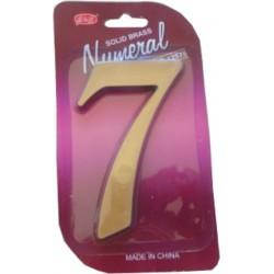 """číslo 125mm bronz """"7"""""""