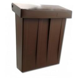 PH stojatá poštová schránka hnedá