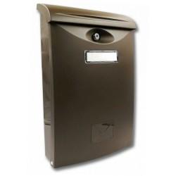 ABS III  hnedá poštová schránka plast