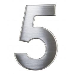 """Číslica """"5"""" 75mm nerez"""