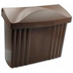 PH ležatá poštová schránka hnedá