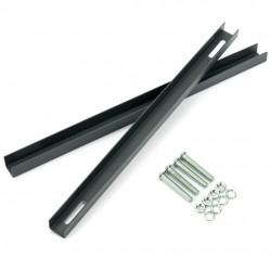 Montážny držiak na schránky 22-27,2cm antracit