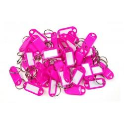 Plastová visačka jednostranná / sada 50ks ružová / RJ.48.RUZ.50KS