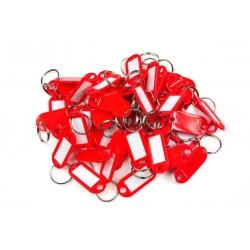 Plastová visačka jednostranná / sada 50ks červená / RJ.48.CRV.50KS