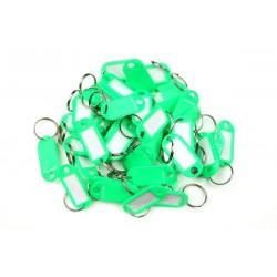 Plastová visačka jednostranná / sada 50ks zelená / RJ.48.ZEL.50KS