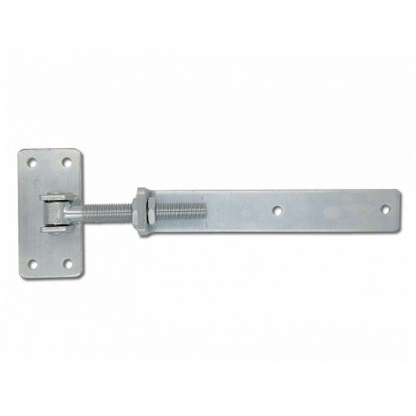 Záves nastaviteľný B145xC70xL300xA50xS6 M20 na drevené dvere BZn