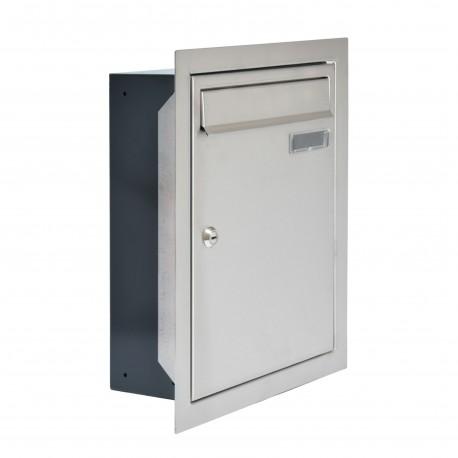 W4 poštová schránka na zamurovanie RAL7016 / nerez